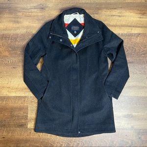 Pendleton Gray Campbell Cascade Wool Coat